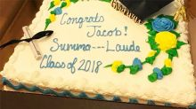 Mum mortified as grocery store censors graduation cake