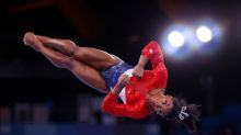 Olympics-Gymnastics-Missteps on the mat before Biles' spectacular exit