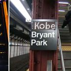 Knicks, Nets fans, local athletes pay tribute to NBA legend Kobe Bryant