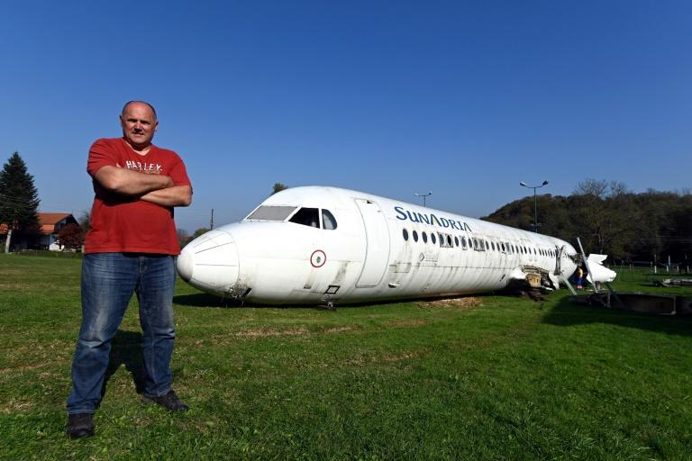 Robert Sedlar said parking a plane next to his house was an idea from childhood (AFP Photo/Denis LOVROVIC)