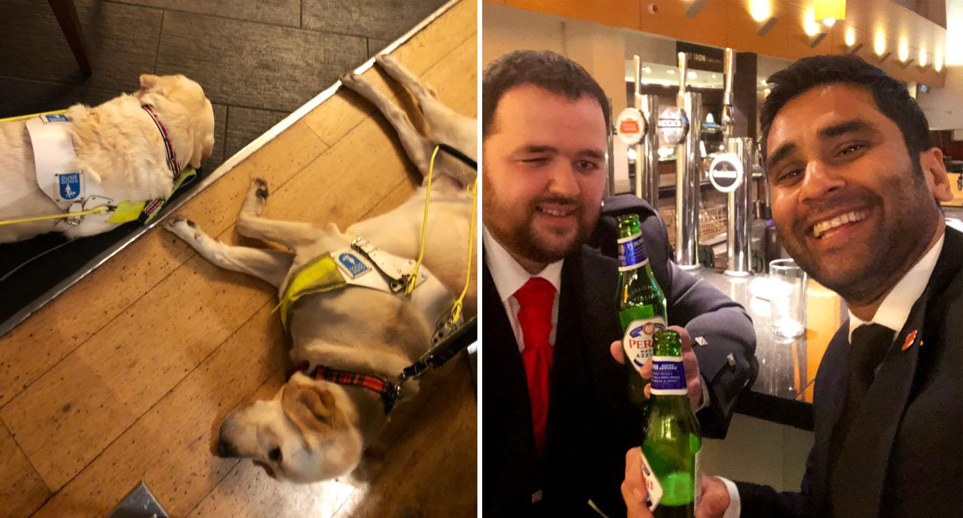 Disability campaigner berated by woman in pub claiming 'using guide dogs is cruel'
