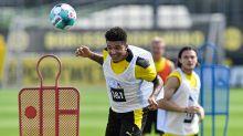 Jadon Sancho jets off with Borussia Dortmund despite Manchester United interest