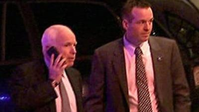 Raw: Senators Leave After Dinner With Obama