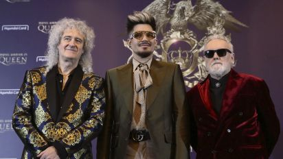 Adam Lambert and Queen reenact Live Aid concert