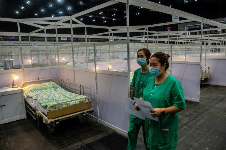 More than 2,000 new infections have been detected in Hong Kong since the start of July (AFP Photo/ISAAC LAWRENCE)