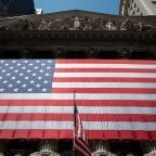 US STOCKS-Wall St gains with economic hopes; bank stocks jump