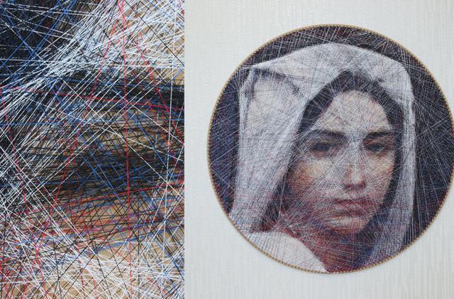Algorithms help an artist tease portraits out of thread