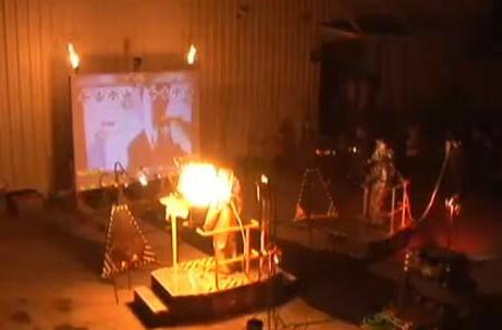 Video: Dance Dance Immolation melts faces at industrial art festival