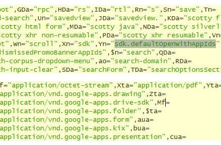 Google Drive SDK, Gmail integration hinted at in Google Docs source code