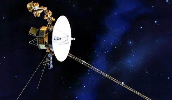 The Voyager 1 spacecraft.