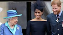 Prince Harry Just Said the Funniest Thing About 'Bumping' into Queen Elizabeth at Buckingham Palace