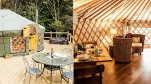 Britain's best glamping site? This Yorkshire luxury yurt has its very own hot tub