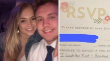 Bride hilariously trolled by ex after wedding invite