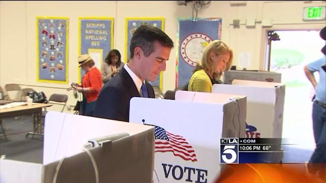 Eric Garcetti Supporters Await Election Results After Long, Costly Campaign