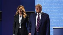 First lady unseen as Trump restarts campaign after COVID-19