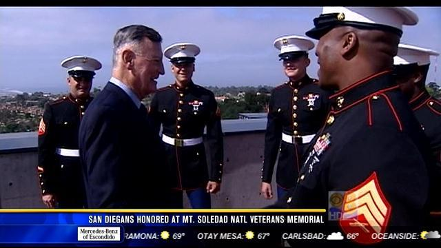 San Diegans honored at Mt. Soledad National Veterans Memorial