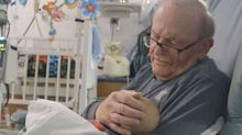 This Adorable Grandpa Spends Two Days a Week Cuddling Babies