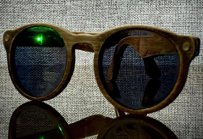 DIY-designed sunglasses with navigation created by engineer Samson March