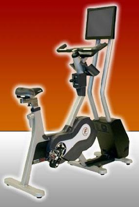 Networked exercise bikes motivate bored riders