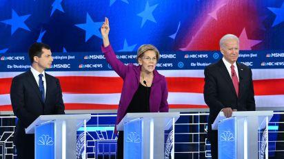 Candidates spar over Warren's wealth tax