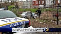UPDATE: Police: Driver Arrested After Car, SEPTA Regional Train Collide In Kingsessing