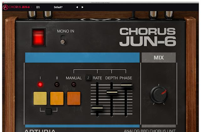 Arturia's JUN-6 is a free chorus plugin based on the iconic Juno synth