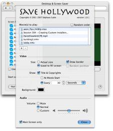 Save your screen with movies and SaveHollywood