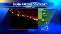 Brush Fire 75 percent contained