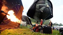 Darth Vader Brings The Dark Side To Europe's Largest Ballooning Fiesta