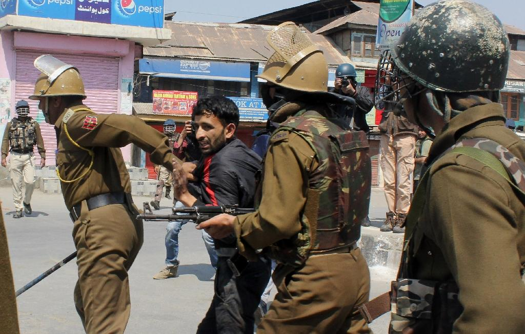 The weekend clashes have been some of the fiercest in Indian Kashmir so far this year