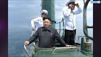 Kim Jong Un Emerges From Submarine