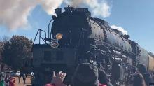 Historic Union Pacific 'Big Boy' Rolls Through Oklahoma for 150th Transcontinental Railroad Anniversary