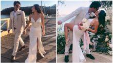 Aussie CEO gets married in $300 wedding dress