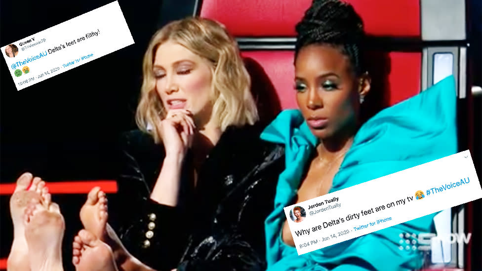 Delta Goodrem roasted over 'filthy' fail on The Voice