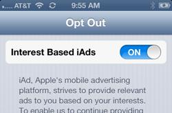 Apple offers targeted ad opt-out