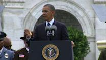 """Obama: Thank police """"every day,"""" not just """"in the wake of tragedy"""""""