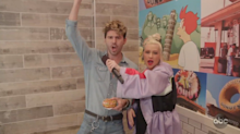 Christina Aguilera catches doughnut customers by surprise with serenades