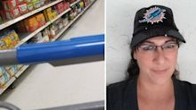 Woman's horrific discovery on trolley while turning her back in supermarket