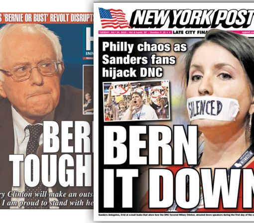 How newspapers covered the DNC's first big day
