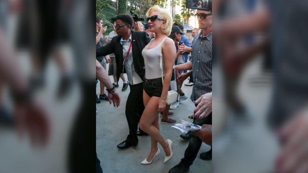 Lady Gaga Wore The Shortest Shorts Imaginable To The World Series