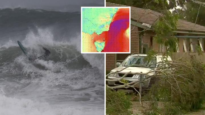 'Hazardous' double cold fronts lash east coast with 100km/h winds