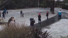 Icy blast hits Melbourne's outer suburbs