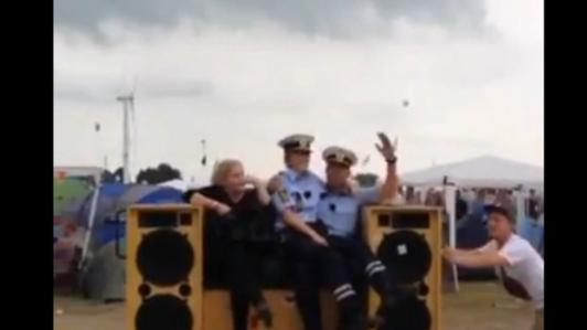 Danish police show off their dance moves