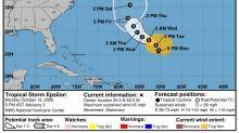 Tropical Storm Epsilon becomes the 26th named storm of the 2020 hurricane season