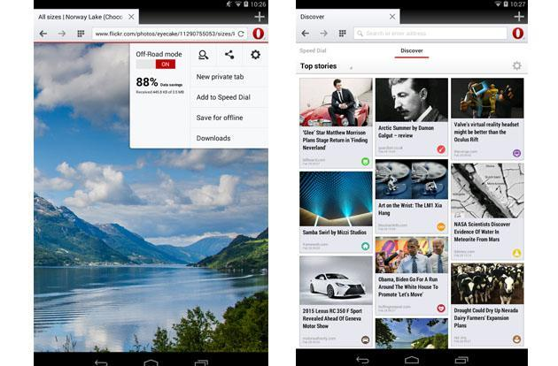 Opera's Android browser catches up to rivals with support for webpage video chats