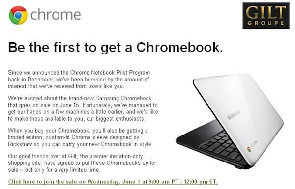 Samsung Chromebook goes on sale early at Gilt (update: sold out)