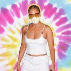 Jennifer Lopez Is Making Tie-Dye Cloth Face Masks the Next 'It' Item of the Season