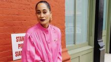 Tracee Ellis Ross Makes the Case for Pairing Neon Pink With Yellow