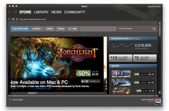 Steam arrives for the Mac with 57 games in tow, all your PC using friends are really happy for you