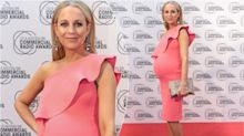 Pregnant Carrie Bickmore stuns on the red carpet